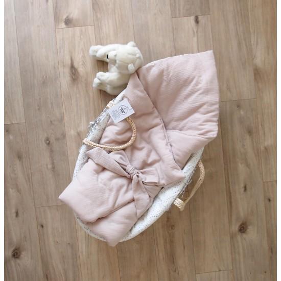 """Муслиновое одеяльце на выписку """"Бежевое спокойствие"""""""
