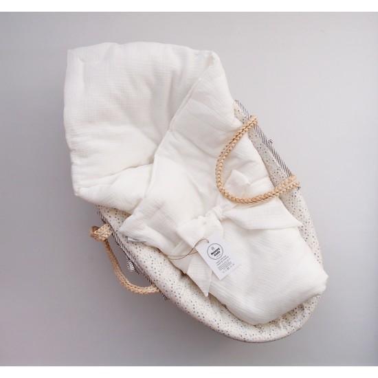 """Муслиновое одеяльце на выписку """"Ванильная нежность"""""""