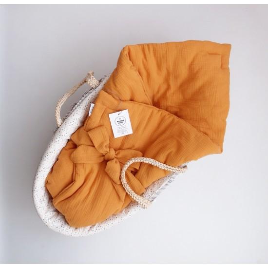 """Муслиновое одеяльце на выписку """"Солнечный"""""""