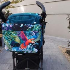 Есть ли у вас сумка на коляску? Или вы используете корзину для покупок под коляской? Или свой рюкзак/сумку вешаете на ручку? Или складываете все в капюшон коляски? (Были и такие примеры) Сумка на коляску решит проблему «некуда сложить» Аккуратная, но вместительная.  Цена от 520 до 605 грн #сумкиmommymade